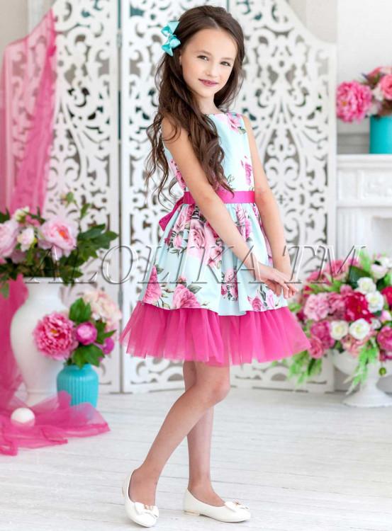 57cfa48ac05 Платье праздничное Делия ПЛ-1813 мята - купить в интернет-магазине ...