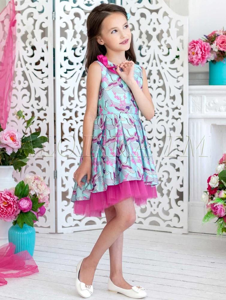 4ed23e226ca Платье праздничное Журавушка ПЛ-1819 мята - купить в интернет ...